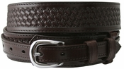 10573 James Western Basketweave Ranger Belt - Brown