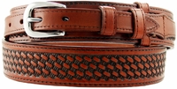 10571 James Western Basketweave Ranger Belt - Tan