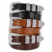 Java Mens Leather Designer Dress and Golf  Belt
