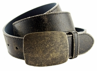 "JH-67756 Leather Casual Jean Belt 1 1/2"" Wide-Black $24.95"