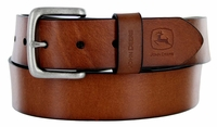 "John Deere Men's Casual Jean Leather Belt 1-1/2"" wide - Brown"