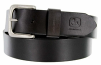 "John Deere Men's Casual Jean Leather Belt 1-1/2"" wide - Black"