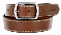 "4550500 John Deere Men's Leather Casual Jean Belt 1-1/2"" wide"