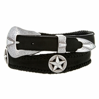 Johnson Star Conchos Genuine Leather Western Belt
