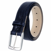 "Joseph Men's Italian calfskin Dress Navy Belt 1-3/8"" Wide"