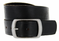 JT-10796 Full Grain Vintage Black Leather Belt 1-1/2 inch wide