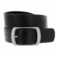 Deal of Today $19.95 JT-10796 Full Grain Vintage Black Leather Belt 1-1/2 inch wide