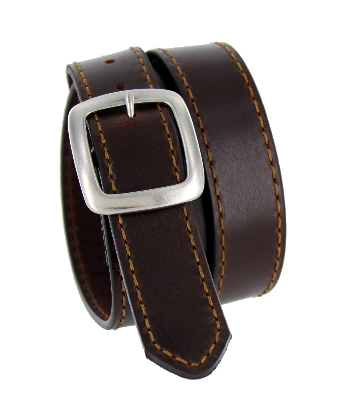 jt241 leather casual jean belt 1 3 8 quot wide brown