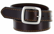 "JT241 Full Leather Casual Jean Belt 1-3/8"" Wide - Brown"