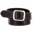 """JT241 Full Leather Casual Jean Belt 1-3/8"""" Wide - Brown"""