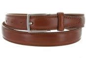 "K727/30 Men's Italian Leather Dress Casual Belt 1-1/8"" Wide Made in Italy - Marrone (Brown)"