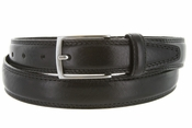 "K727/30 Men's Italian Leather Dress Casual Belt 1-1/8"" Wide Made in Italy - Nero (Black)"