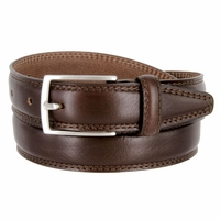 "K727/30 Men's Italian Leather Dress Casual Belt 1-1/8"" Wide Made in Italy - T. Moro (Dark Brown)"