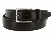 "K727/35 Men's Italian Leather Dress Casual Belt 1-1/8"" Wide Made in Italy - Nero (Black)"