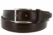 "K727/35 Men's Italian Leather Dress Casual Belt 1-1/8"" Wide Made in Italy - T. Moro (Dark Brown)"