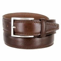 "K727/35 Men's Italian Leather Dress Casual Belt 1-3/8"" Wide Made in Italy - T. Moro (Dark Brown)"