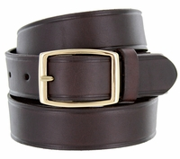"0021409 Full Leather Work Uniform Belt 1-1/4"" Wide - Brown"