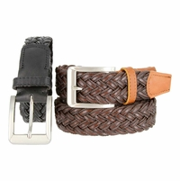 LA1114 Leather and Polyester Woven Belt