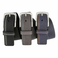 LA2024 Triple Stitch Leather Belt
