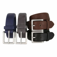 LA2033 Edge Stitched Leather Belt