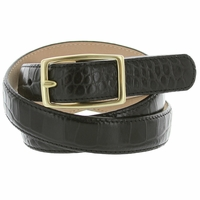 "Ladies Italian Leather Designer Dress Belt 1"" Wide"