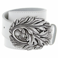 Leaf Belt Buckle Casual Jean Leather Belt