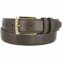 "Lejon 2042 Genuine Italian Calfskin Leather Dress Casual Belt 1-3/8"" (35mm) wide with Brass Buckle"