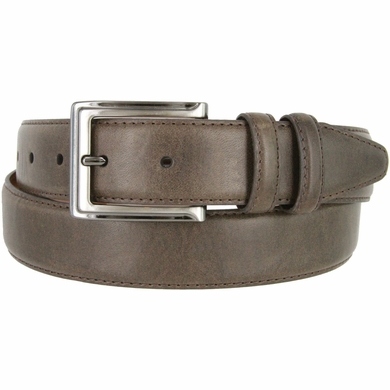 "Lejon 2042 Genuine Italian Calfskin Leather Dress Casual Belt 1-3/8"" (35mm) wide with Gunmetal Buckle"