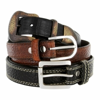 Lejon Belt Western Casual Jean Leather Belts Made In USA