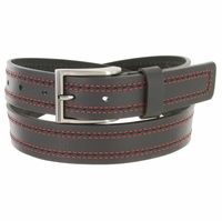 "Lejon Belt Boardwalk Full Grain Harness Leather Belt 1-3/8"" Wide Black Made in USA"