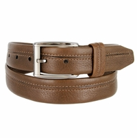 "Lejon Belt Harvard Full Grain Waxy Glove Leather Dress Belt 1-3/8"" Wide Brown"