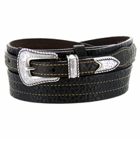 Lejon Belt Marshall Pebble Grained Leather Ranger Belt 6021