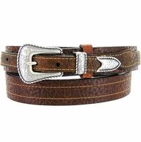 Lejon Belt Marshall Pebble Grained Leather Ranger Belt 6023