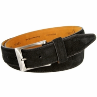 Lejon Cashmere Suede Leather Dress Belt LJ-15881 - Black