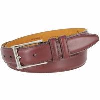 Lejon Glove Tanned Steerhide Smooth Leather Dress Belt - Burgundy