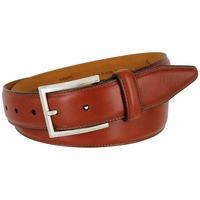 "Lejon Smooth Italian Calfskin Tapered Tip Leather Dress Belt 1-3/8"" wide - 16314"