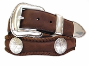 Liberty Western Walking Liberty Coin Concho Leather Belt $39.95