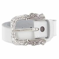Lion Heads Buckle Casual Jean Leather Belt
