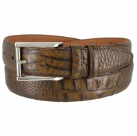 Lejon 2053 Italian Calfskin American Alligator Embossed Belt 1-3/8 Wide Made In USA