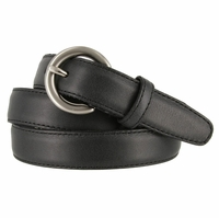 "2502/26 1"" Wide Genuine Leather Belt Made In Italy (Black)"