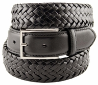 M0208 Comfort Stretch Braided Men's Leather Belt - Black $29.95