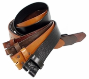 Made In U.S.A . Saddle Leather Belt Straps