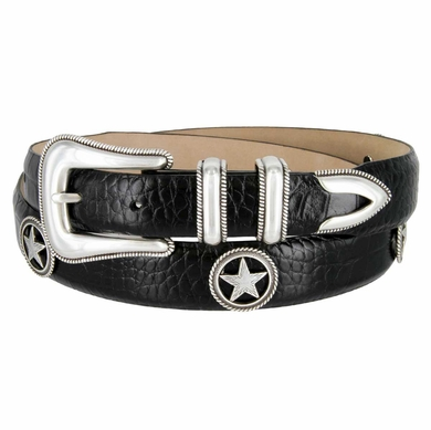 Maldonado Italian Calfskin Leather Concho Belt