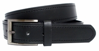 Market Street Men's Genuine Leather Casual Dress Belt Black