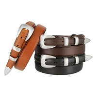 "Marshall Men's Genuine Leather Ranger Belt 1-1/8"" taper to 3/4"""