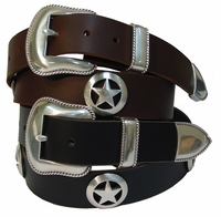 Marshall Star Conchos Western Leather Belt