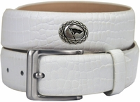 "Masters Italian Calfskin Leather White Golf Belt 1 3/8"" Wide $39.50"