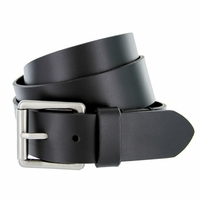 "Deal of Today $13.95 Men's Antique Roller Buckle Genuine Leather Casual Jean Belt 1-1/2"" Wide"