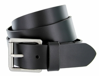 "Men's Antique Roller Buckle Genuine Leather Casual Jean Belt 1-1/2"" Wide"
