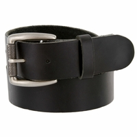 "Men's Antique Roller One Piece Full Leather Casual Jean Belt 1-1/2"" wide"